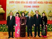 阮春福与夫人主持国庆71周年招待会(组图)