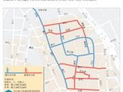 自10月起河内新增9条步行街