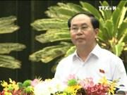 越南国家主席陈大光会见胡志明市企业代表