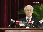 越共第十二届中央委员会第四次全体会议闭幕