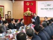 政府总理阮春福与河内国家大学领导举行工作会议
