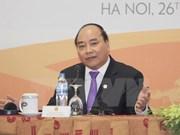 越南政府总理阮春福在河内举行国际新闻发布会