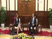 越南国家主席陈大光会见以色列驻越大使和捷克和莫拉维亚共产党主席