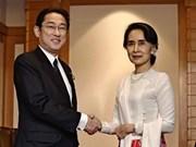 日本承诺为帮助缅甸发展国家提供77亿美元的援助
