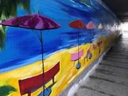 青年画家小组的两幅画获得越南最大风景画记录