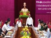 越南政府总理阮春福同和平省主要领导干部举行调研工作座谈会