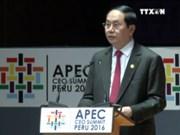 越南国家主席陈大光出席2016年亚太经合组织领导人会议周