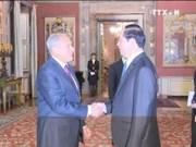 越南国家主席陈大光会见意大利参议长和众议长
