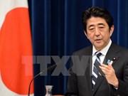 日本首相安倍晋三会见越共中央组织部部长范明政