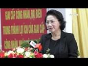 越南国会主席阮氏金银接触了芹苴市选民