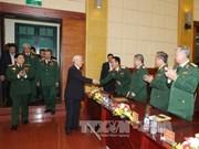 越共中央总书记阮富仲走访了越南国防情报总局(组图)