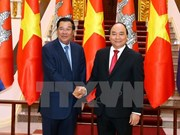柬埔寨王国首相洪森开始对越南进行正式访问