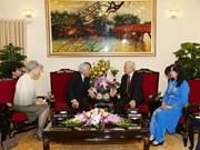 越共中央总书记阮富仲与日本天皇明仁和皇后进行茶叙(组图)