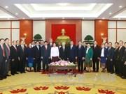 越共中央总书记阮富仲会见老挝国会主席巴妮·雅陶都