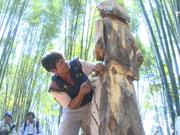 西原地区各族人民民间木雕比赛比赛热闹开赛