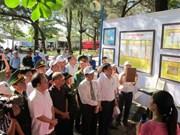 黄沙和长沙归属越南地图资料图片展在乂安省和安江省举行
