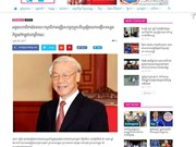 柬媒:阮富仲总书记访柬有助于提升两国关系