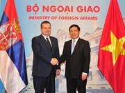范平明与塞尔维亚第一副总理兼外交部长达契齐会谈(组图)