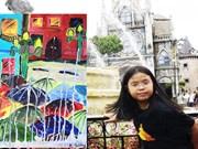 越南10岁画家首次举办个人作品展