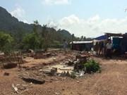 广平省灾民台风后无家可归