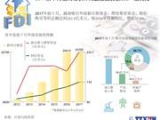 图表新闻:2017前十月越南吸引外商直接投资额282.4亿美元