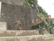 河江省边防力量与居民努力维护边境地区秩序安全