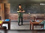 越南维和军官在中非的免费补习班