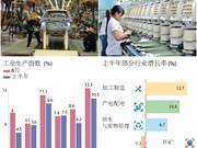 图表新闻:2018年前六月越南工业生产指数上升10.5%