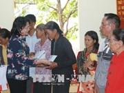 国家副主席邓氏玉盛看望慰问得农省优抚家庭