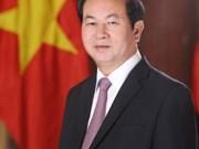 越南国家主席陈大光接受埃塞俄比亚媒体记者的采访