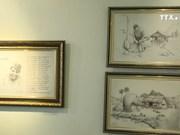 充满乡村气息的艺术空间的铁笔书画作品展