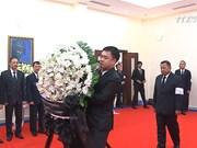越南驻世界各国大使馆为陈大光主席举行吊唁仪式