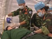 越南军人为参加联合国维和行动做好准备