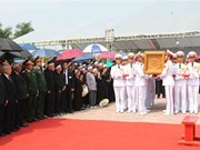 原总书记杜梅安葬仪式在其家乡河内市清池县举行(组图)