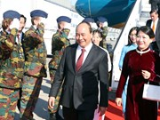越南政府总理阮春福抵达布鲁塞尔 开始出席ASEM 12并对欧盟和比利时进行访问之旅