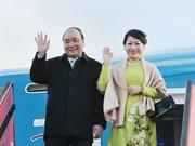 政府总理阮春福抵达哥本哈根出席P4G峰会和对丹麦进行正式访问