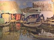 """""""磨漆画中的各地乡村""""画展在河内举办"""