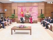 越南国会主席阮氏金银会见中国驻越大使熊波