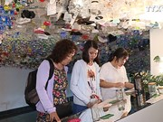 """""""减少垃圾排放量""""陈列展览鼓励人民力行环保"""