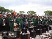 为在柬埔寨牺牲的越南志愿军和专家举行追悼会