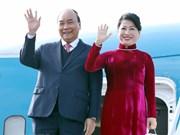 组图:越南政府总理阮春福抵达韩国,开始出席东盟-韩国对话关系30周年纪念峰会之旅