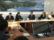 国会副主席丛氏放与丹麦外交部长克里斯蒂安•延森