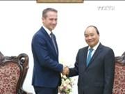 越南政府总理阮春福会见丹麦外交部长克里斯蒂安•延森