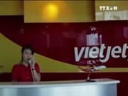 越捷航空公司开通河内至台北、胡志明市至高雄两条航线