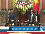 越南国家主席陈大光会见缅甸内政部长觉瑞