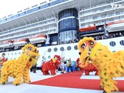 广宁省鸿基国际客运港迎接首个国际游轮