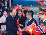 阮春福总理一行开始对挪威进行正式访问