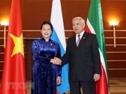 组图:越南国会主席主席阮氏金银来俄访问,会见俄罗斯鞑靼斯坦共和国国务委员会主席