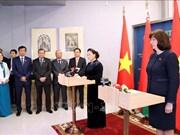 组图:越南国会主席阮氏金银同白俄罗斯高级领导举行会见会谈