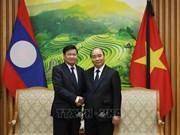 组图:越南政府总理阮春福与老挝总理通论·西苏里举行会谈